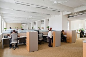 ClimateWorks' office has a bright and healthy atmosphere and uses two-thirds less energy for HVAC and one-third less energy for lighting, compared to a typical California office interior.
