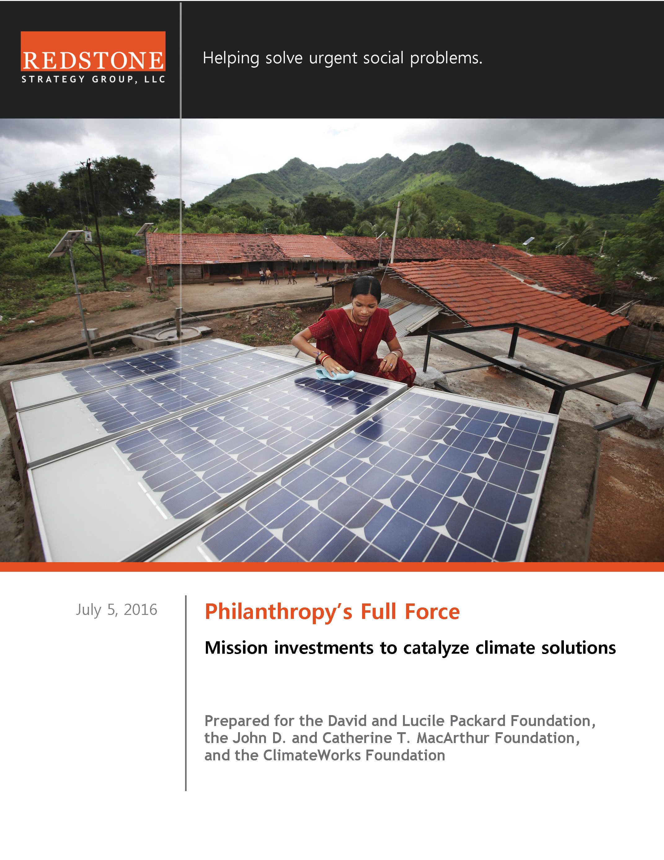 Mission investments to catalyze climate solutions